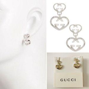 ee536a72af6 Gucci Jewelry - GUCCI LOVE BRITT HEART DANGLE EARRINGS